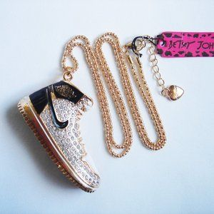 NWT BETSEY JOHNSON  SPORT SNEAKER NECKLACE